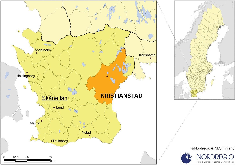 Kristianstad Sverige Kort Kort Over Kristianstad Sverige I