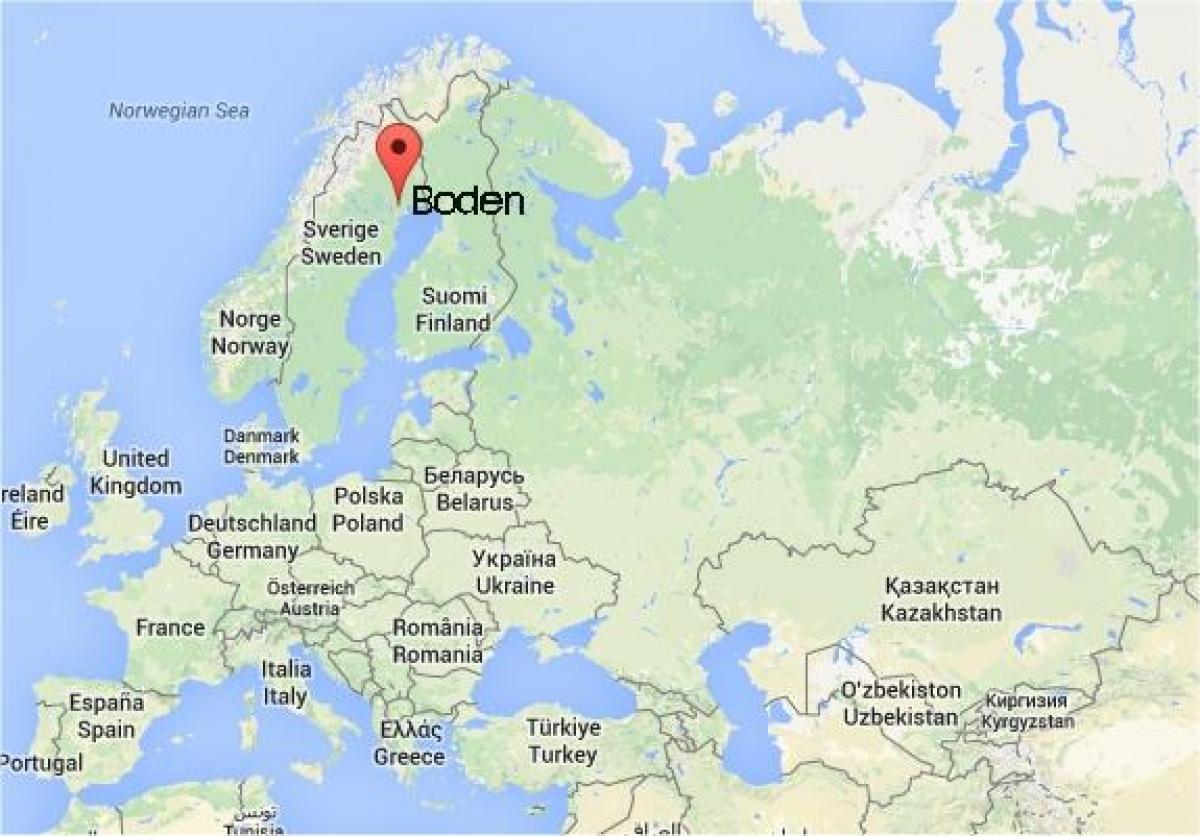 Boden i sverige kort kort over boden i sverige i det for Boden clothing deutschland