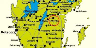 Det Sydlige Sverige Kort Kort Over Det Sydlige Sverige I Det