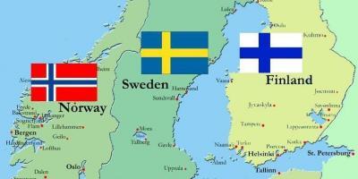 Sundsvall I Sverige Kort Kort Over Sundsvall Sverige I Det